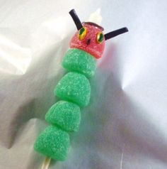 Very Hungry Caterpillar - gumdrop pops or lay flat for smash cake topper?