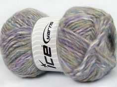 Harmony Mohair White Lilac Blue Beige