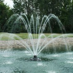 Welcome to Fountain Mountain! One stop online shop for quality fountains for ponds. Visit our site today to see all the beautiful products we offer! Fountain Lights, Pond Fountains, Water Pond, Small Ponds, Floating, Salt And Water, Water Features, Outdoor Living, Waterfall