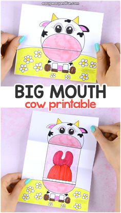 Surprise Big Mouth Cow Printable - Easy Peasy and Fun
