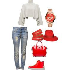 A fashion look from October 2014 featuring Jaeger sweaters, Anine Bing jeans and Ruthie Davis sneakers. Browse and shop related looks.