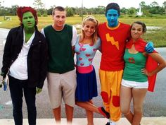 Roger, Doug Funnie, Patty Mayonnaise, Skeeter, and Quail Man.