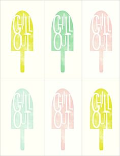 SUMMER PARTY FAVORS (FREE PRINTABLE)