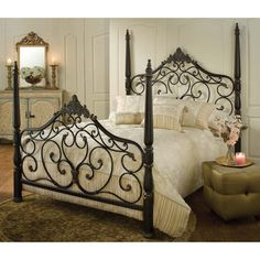 Hillsdale Furniture's Parkwood bed is the definition of traditional elegance. A classic four poster design, this bed features graceful arched lines, intricate castings, sculpted finials and flowing scrollwork. Constructed from heavy gauge fully welded tubular steel, the Parkwood bed boasts a...