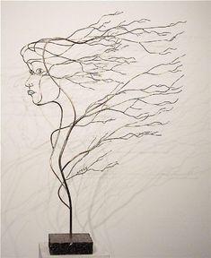 esculturas con alambre