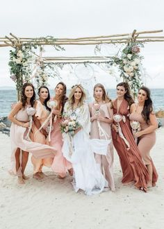 Bohemian beach wedding inspiration, loving the color scheme