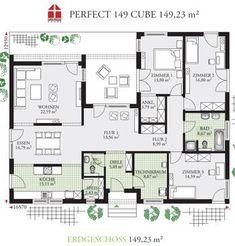 wood look tile floor Grundrisse: DAN-WOOD House - Fertighaus - Perfect 149 Cube Prefab Homes Canada, Wood Tile Floors, Tile Crafts, Prefabricated Houses, House In The Woods, Tile Design, House Floor Plans, Future House, Sweet Home