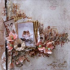 "Wonderful layout, by Mary, using papers from the ""I Wish"" collection."