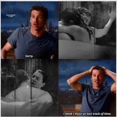 every time I watch it Meredith Grey's Anatomy, Greys Anatomy Derek, Greys Anatomy Funny, Greys Anatomy Cast, Grey Anatomy Quotes, Meredith And Derek, Grey Quotes, Dark And Twisty, Derek Shepherd