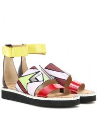 66d8803fca4 Peter Pilotto Leather Sandals - Lyst Leather Sandals Flat