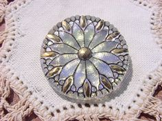 Check out this item in my Etsy shop https://www.etsy.com/listing/128535286/metallic-opalescent-starburst-floral