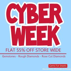 Cyber Week Sale - Flat 55% off storewide. Hottest deals on your favourite store - Gemsforjewels - Special New Items added every hour for a wonderful shopping experience. Treat yourselves this Holiday Season.