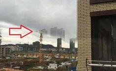 Mais Cidades Fantasmas Flutuantes Aparecem na China, Blue Beam ou Ativação do CERN Abrindo MUNDOS PARALELOS?