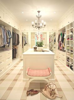 Obsessed! Lovely walk in closet.