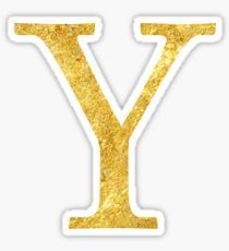 Letter Y stickers featuring millions of original designs created by independent artists. Tumblr Stickers, Gold Letters, Sticker Design, Have Fun, Bullet Journal, Symbols, Lettering, Digital, Disney