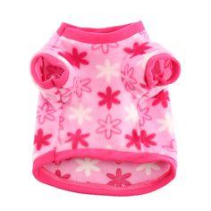 1Pcs Small Dog Clothes Fleece Soft Leopard T-shirt Pet Sweater Clothing Costumes