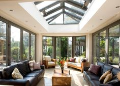 Orangery, Conservatory or Glass Extension differences explained Open Plan Kitchen Dining, Kitchen Dining Living, Skylight Covering, Cheap Pergola, Pergola Ideas, Diy Pergola, Glass Extension, Extension Ideas, Roof Lantern