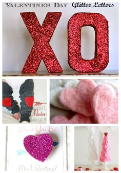 I love these Handmade Valentines. The gillter letters are so fun!