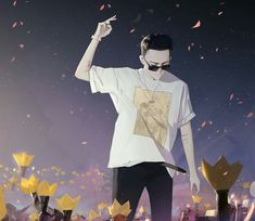 Big Bang Kpop, Gd Bigbang, Choi Seung Hyun, Jiyong, G Dragon, My King, My Idol, Chibi, Anime Art