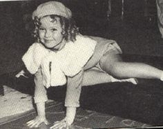 Shirley Temple leaving her hand prints, Chinese Theater- 1935