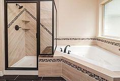 Corner tub bathroom idea