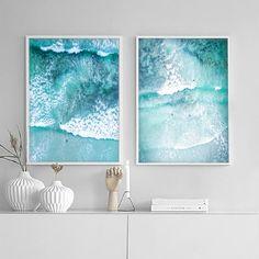 65 Ideas Art Prints Ocean Free Printable For 2019 Ocean Art, Ocean Waves, Contemporary Art Prints, Wave Art, Beach Print, Cactus Print, Surf Art, My New Room, Decoration