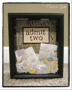 Admit Two Ticket Stub Memory Box