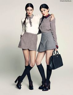 Kendall & Kylie Jenner cover March 2014 issue of Marie Claire Mexico. Kendall on modeling: '[I] always enjoyed watching and looking at high fashion models… Kylie Jenner Fotos, Kendall Jenner Mode, Kylie Jenner 2013, Le Style Du Jenner, Kendall Jenner Outfits, Marken Outlet, Tommy Hilfiger, Celebridades Fashion, Looks Style