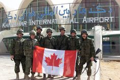 Canadian soldiers at Kandahar in Afghanistan, 2005