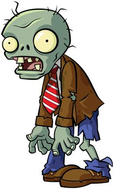 'Regular Zombie from Plants vs Zombies' Sticker by Jonnyman Plants Vs Zombies, Zombies Vs, Zombie Kunst, Zombie Art, Zombie Clipart, Plantas Versus Zombies, Zombie Drawings, Cute Zombie