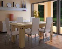 Table à manger en bois et verre Bois brun clair #apetitprix