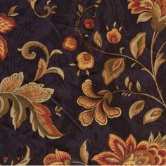 "54"" Wide Fabric by the Yard, Swavelle Fairbury Century Lapis, Cotton, Navy Blue Floral Jacquard by Swavelle, http://www.amazon.com/dp/B00BOVETDS/ref=cm_sw_r_pi_dp_pJyzrb178548K"
