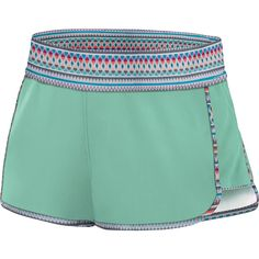 DAKINE Womens Suede Insider Boardie Short - S - Bermuda - Shorts ($25) ❤ liked on Polyvore featuring shorts, green, elastic waistband shorts, stretch waist shorts, green shorts, elastic waist shorts and bermuda shorts