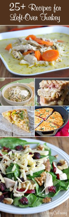25+ Recipes Using Left Over Thanksgiving Turkey #thanksgiving #turkey #leftovers