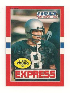 STEVE YOUNG 1985 USFL RARE MINT FROM PACK #SanFrancisco49ers