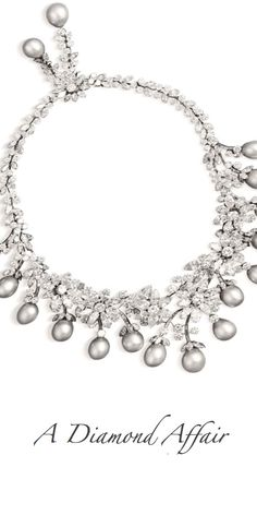 Alexandre Reza 2015 - A Diamond Affair~ Diamond and Pearl necklace.