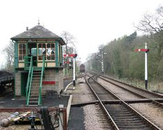 Holt Railway Station - signal box,17 Diesel Locomotive, Steam Locomotive, Steam Railway, Green Park, Water Tower, Train Station, Model Trains, Railroad Tracks, Around The Worlds