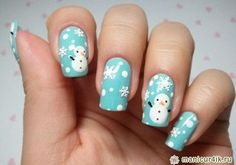 easy christmas nails - Google Search