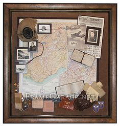 shadow boxes | WWII shadow box.