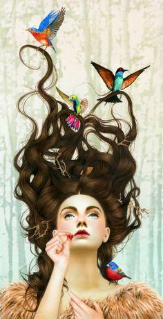 shu84: Morgan Davidson Illustrations Áquele que pertencer seus pensamentos ,buscará os  seus sonhos ...