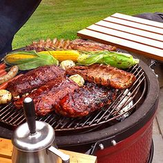 "Win a Kamado Joe ClassicJoe with a Heat Deflector! Get creative and submit your best photo of your Kamado Joe, ClassicJoe or BigJoe, or a meal you cooked on a Kamado Joe, ClassicJoe or BigJoe grill to the ""Show Off Your Joe"" photo contest. Kamado Grill, Kamado Joe, Churros, Bbq Grill Set, Ceramic Grill, Charcoal Grill, Photo Contest, Steak, Grilling"
