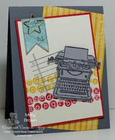 "stampercamper.com - It's Preview Week for Create with Connie and Mary Card ""Create""tions Celebrations and I'm kicking things off with a fun card set using Tap, Tap, Tap! Here's ONE of the FOUR cards I made with this set! And the best thing...I have a FREE tutorial for making four cards with this set! All the details on my blog. Set: Tap, Tap, Tap"