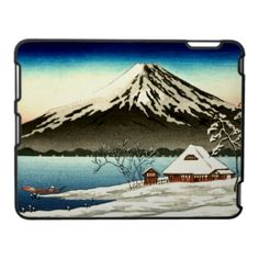 Winter landscape with small snow-covered building on the coast and view of Mount Fuji. Date between 1890 and 1940 cm) Fine Art Print Framed, Poster, Canvas Prints, Puzzles, Photo Gifts and Wall Art Snow Scenes, Winter Scenes, A4 Poster, Poster Prints, Posters, Japanese Woodcut, Mount Fuji, Japanese Painting, Japanese Artwork