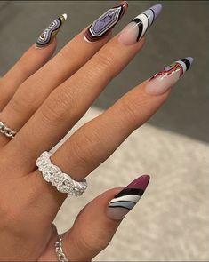 Instagram @jayna.edwards Kylie Nails, Aycrlic Nails, Swag Nails, Hair And Nails, Uñas Kylie Jenner, Nail Polish, Fire Nails, Minimalist Nails, Best Acrylic Nails