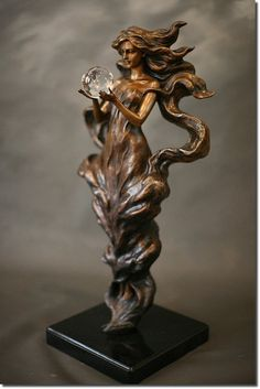 "mignonne-allons-voir-si-la-rose: "" ""Visions"" bronze sculpture by Gaylord Ho "" Abstract Sculpture, Wood Sculpture, Metal Sculptures, Art Nouveau, Style Floral, Oeuvre D'art, Amazing Art, Sculpting, Glass Art"