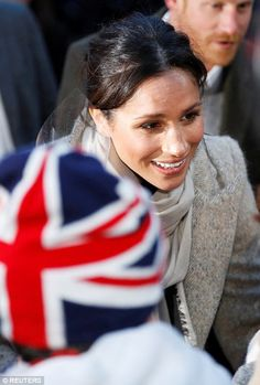 Miss Markle spent time after the visit waving at the crowds and greeting them
