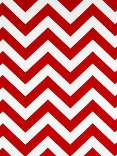 Fabric for bedding - Red Chevron