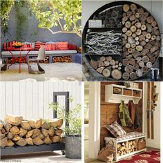 15 firewood storage and creative firewood rack ideas for indoors and outdoors. Lots of great building tutorials and DIY-friendly inspirations!