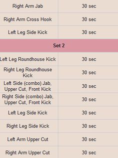 Cardio Kickboxing routine 2