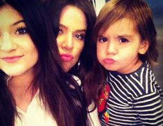 Kylie with khloe and Mason